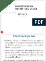 Interés nominal, real y efectivo