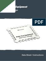 Wet Film Gauge Data Sheet & Instructions