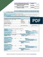 Formato Propuesta Proyecto de Investigación Diego Gaviria