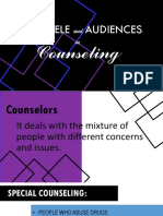 Clientele and Audiences in Counseling