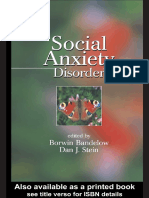 (Medical psychiatry 29) Borwin Bandelow, Dan J. Stein - Social Anxiety Disorder-Marcel Dekker (2004).pdf