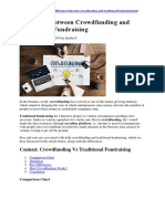 Key Differences Between Crowdfunding and Traditional Fundraising