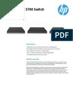 HP FlexFabric 5700 Switch Series