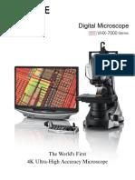 Keyence Microscope VHX-6000 manual