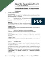 2.2.- Especificaciones Tecnicas - Arquitectura