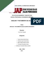 ANÁLISIS Y TRATAMIENTOS DE EFLUENTES PESQUEROS