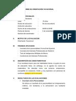 Informe Individual Del Programa de Orientación Vocacional.