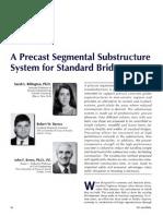 A Precast Segmental Substructure System for Standard Bridges