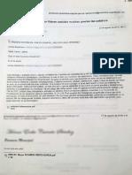 Recibido a la carta del 26 de agosto 2019