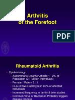 Forefoot Arthritis