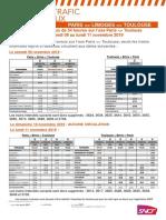 Info trafic sur les travaux sur la ligne POLT pour le week-end du 11 novembre