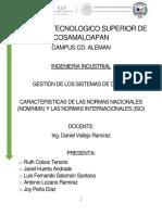 Caracteristicas Normas ISO y Normas Nacionales e Internacionales
