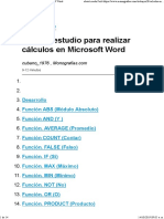 Funciones en Word 2016