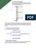 Memorial e Especificações Escada Tipo Marinheiro Especificações.