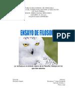 ENSAYO FILOSOFIA