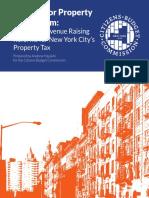 NYC Property Tax Reform Options - CBC
