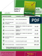 Tabla Plan especial Matemática Utatlán 2011