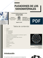 Aplicación de Nanomateriales - 2018