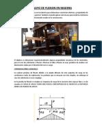Ensayo de Flexion y Penetracion en Madera