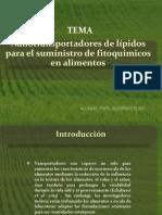 Nanotransportadores de lípidos para el suministro de fitoquimicos.pptx