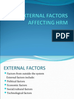 External factors affecting human resource management(HRM)