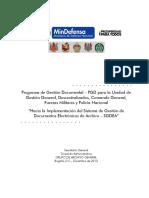 Programa Gestion Documental Pgd - Ministerio de Defensa Nacional