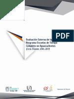 INFORME ESCUELAS TIEMPO COMPLETO 2019