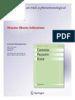 Maxine Sheets-Johnstone Embodiment