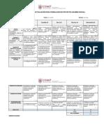 f. Rúbrica de Evaluación Examen Parcial de PROYECTOS CUTI