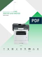 Lexmark XM1140 XM1145 XM3150 Brochure