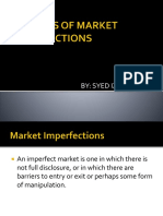 Sources of Market Imperfections (2)