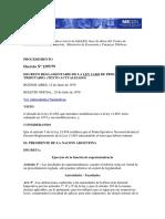 Decreto Reglamentario de La Ley 11683