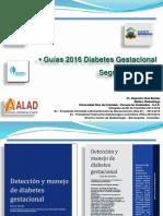 Diabetes Gestacional Papel de La Nutricionista - 27 de Junio II Guias 2016
