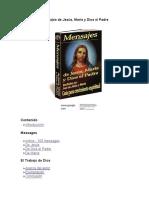 Mensajes de Jesús, María y Dios El Padre