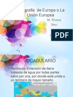 Geografia de Europa y La Uinion Europea 9no
