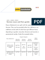 2 German Nouns and Their Gender