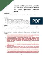 Posudek a rozbor auditu KSÚS od BDO