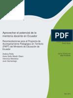 Aprovechar El Potencial de La Mentoria Docente en Ecuador Es Es