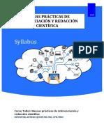 Buenas prácticas de referenciación y redacción científica - Syllabus.pdf