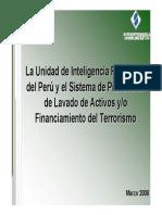 Unidad de Inteligencia Financiera Del Peru y Sistema de Prevencion de Lavado de Activos