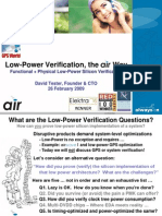 Low-Power Verification, The Air Way...