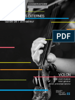 programme externe violon