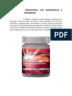 Astaxantina y Extracto de Arándanos Suplemento Alimenticio