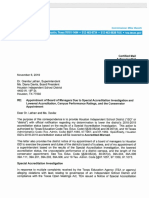 Houston ISD Board of Managers Notification Letter