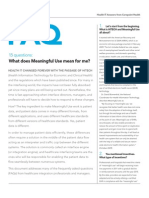 Meaningful Use FAQs