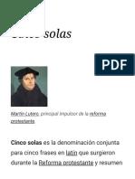 5 Solas de la Reforma protestante