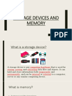 Storage Devices and Memory