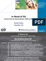 Air presentation at Silicon South West