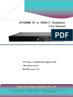 IPM6000 ISDB-T IP Mux Modulator User Manual