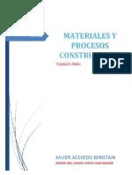 Materiales y Procesos Constructivos Unidad 7 y Unidad 8